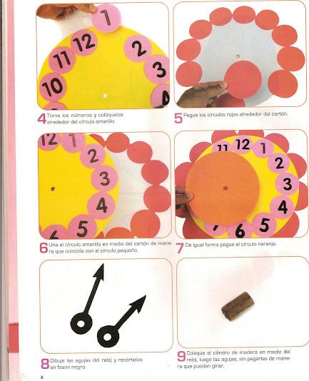 Cómo hacer un reloj en foami - Imagui