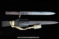 Prussian ersatz bayonet with frog and 1st company troddel