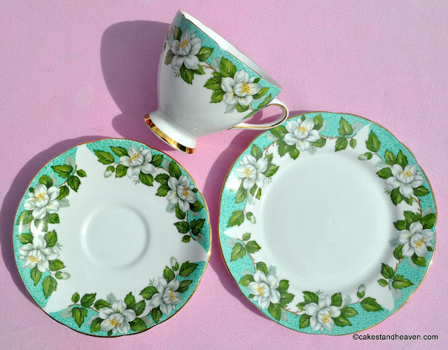1950s Vintage Gladstone China Teacup Trio