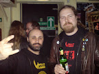 With Einar Sjurso, VIRUS & ex-BEYOND DAWN drummer, DUPLICATE Records owner