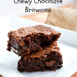 The Best Chewy Chocolate Brownies.
