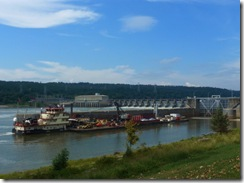 Cargo waiting to go through the lock