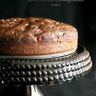 Dark Chocolate Pomegranate Cake