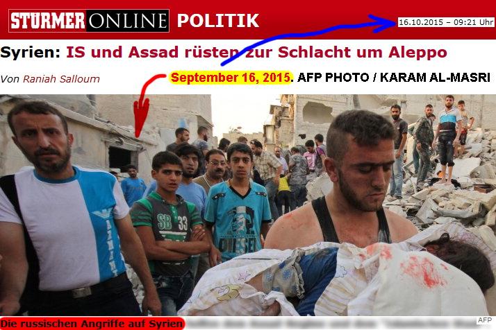 Die russischen Angriffe auf Syrien