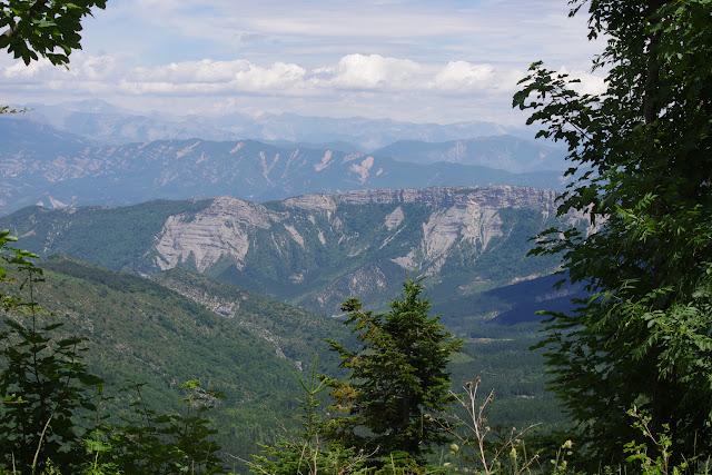 Les Alpes depuis le versant nord de la Montagne de Lure (1150 m), (Vaucluse), 23 juin 2015. Photo : J.-M. Gayman