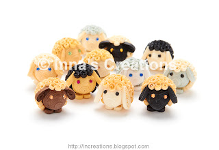 Handmade Agricola sheep (quilling)