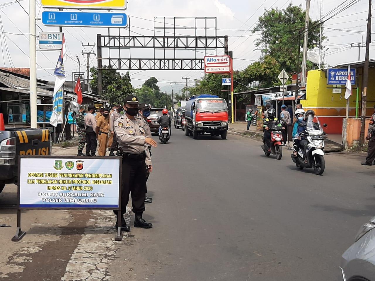 Tim Gabungan Pimpin Ops Yustisi Di Wilkum Polres Sukabumi Kota Polda Jabar