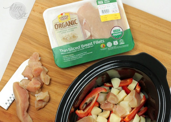 Organic Chicken breasts in the crock pot