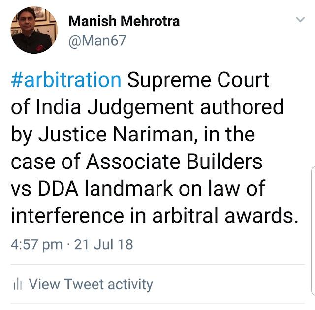 Manish Mehrotra On Arbitration Law Medical Malpractice Law