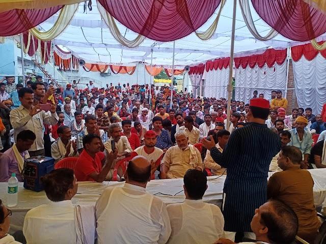 पूर्व विधायक दीपनारायण सिंह यादव ने पार्टी के कार्यकर्ताओं को किया सम्बोधित