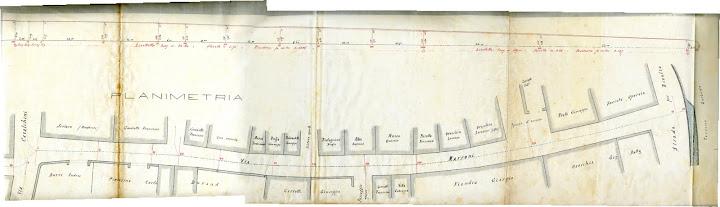 Planimetria Cuntrà di Mareu 1888