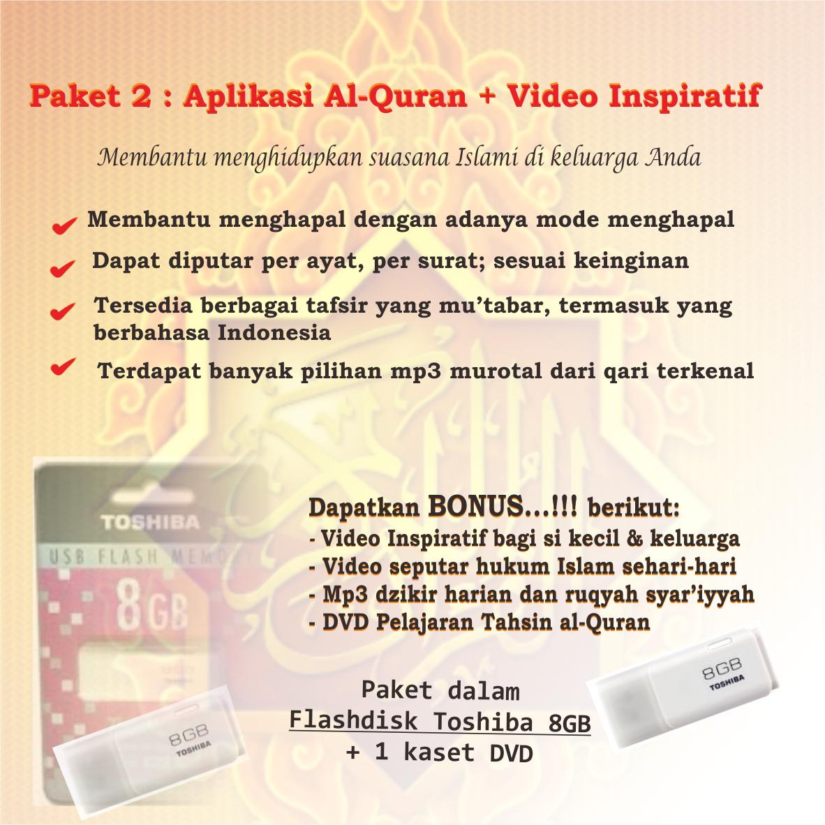 Paket Flashdisk 8gb Islami Oke Banget 1 Video Toshiba 8 Gb Animasi