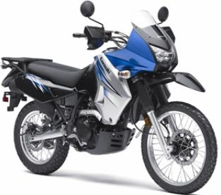 2011 Kawasaki KLR 650 blue color
