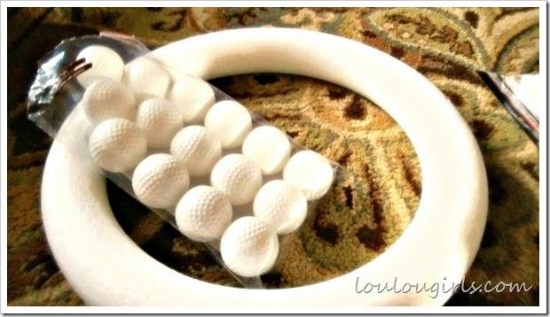 golf ball wreath