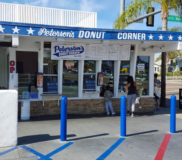 photo of the outside of Peterson's Donut Corner