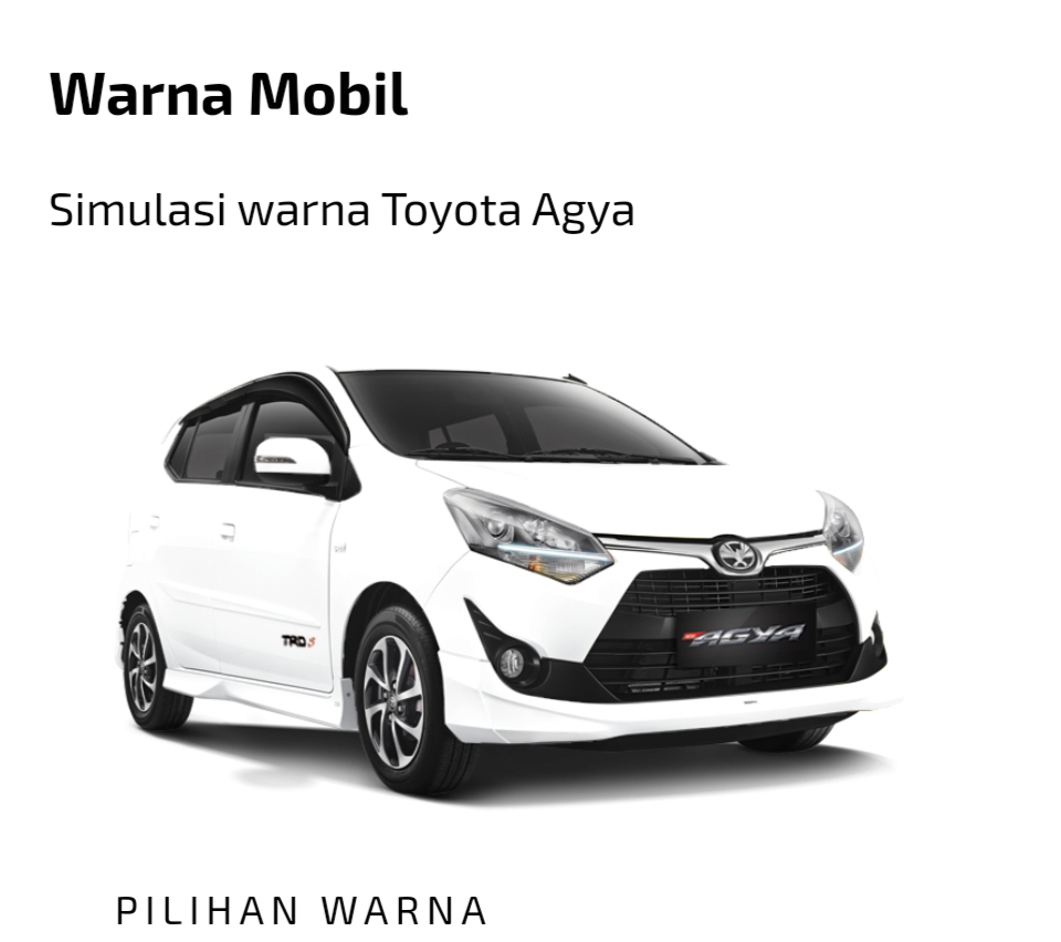 Toyota All New Agya Putih