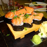 salmon sashimi in Tokyo, Tokyo, Japan