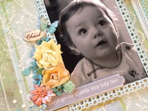 Scrapbook Page Baby Boy