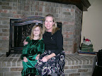 Theta Nancy Waters brought her legacy, daughter Jenny, to the holiday tea.