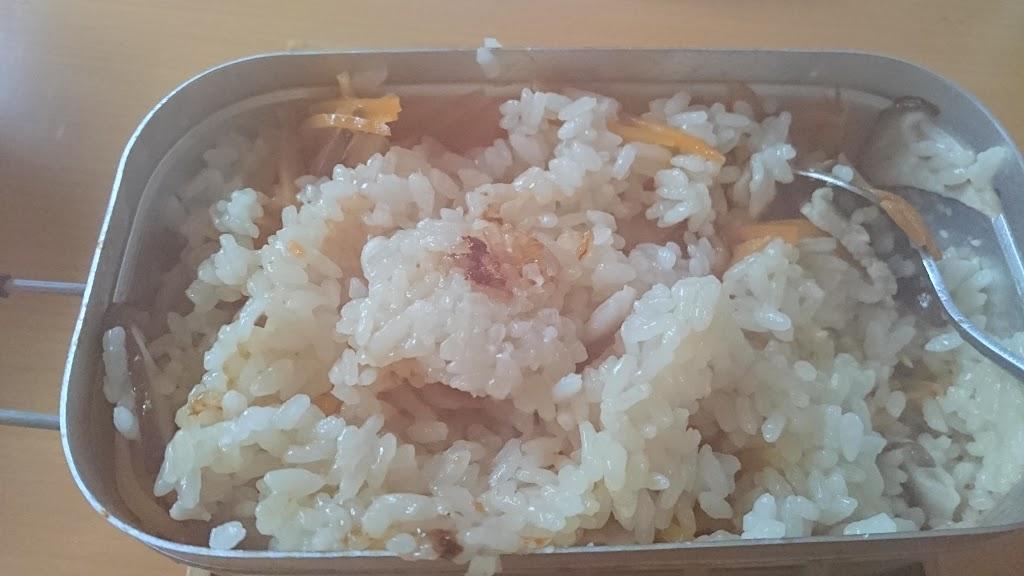 メスティンで炊いた炊き込み御飯の写真2