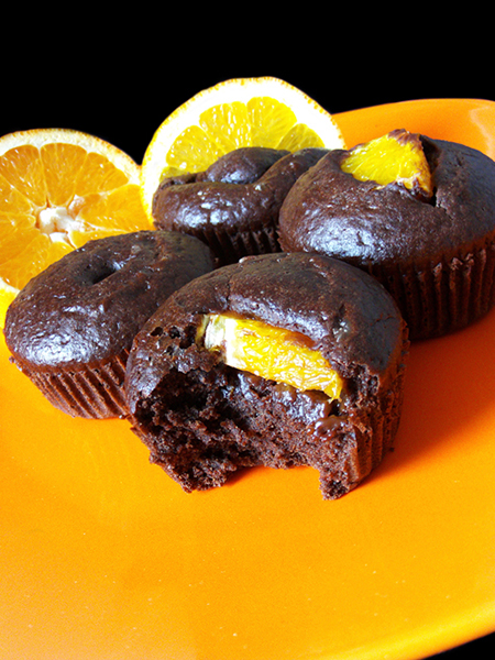 Egg-free dairy-free chocolate orange muffins tinascookings.blogspot.com