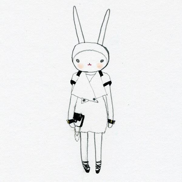 Fifi Lapin: Black and White bun