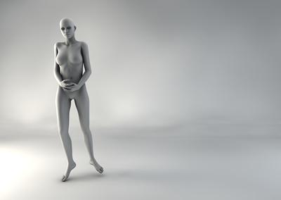 femme 3D pose naturelle SP 07