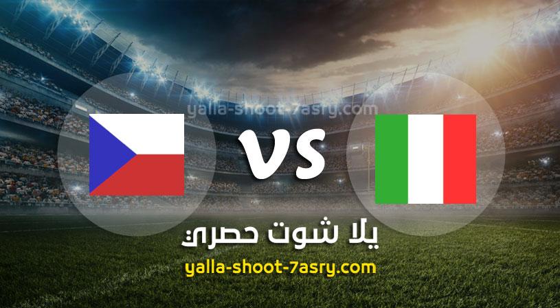مباراة ايطاليا وجمهورية التشيك