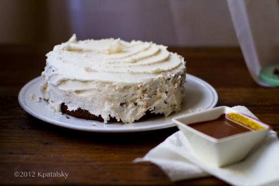 ... mocha cake photoshoot coconut frosting slathered pecan coffee cake