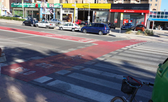final del carril bici central