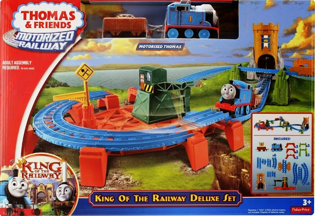 Sản phẩm Thomas & Friends King Of The Railway Deluxe Set Fisher Price BGL99