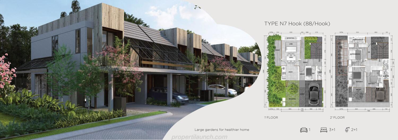 Rumah Asera Nishi Harapan Indah Bekasi Tipe N7 Hook