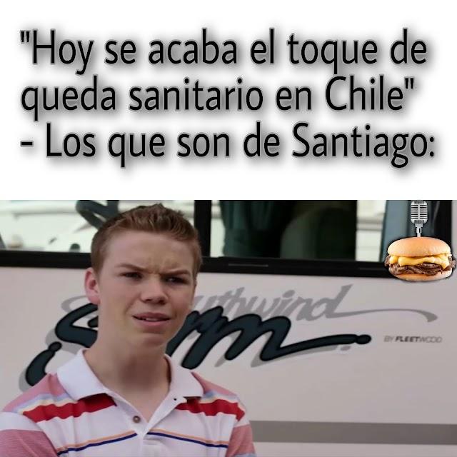 ¿Había toque de queda en Santiago?