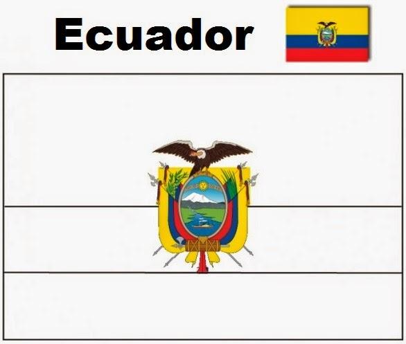 Blog De Geografia Ecuador Flag Coloring Pages