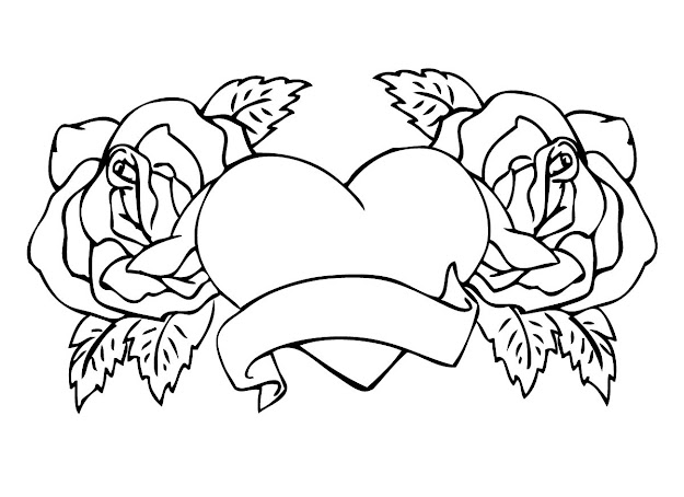 Best Hd Rose Coloring Pages Image Craetive Kids Colouring