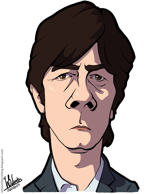 Cartoon caricature of Joachim Low.