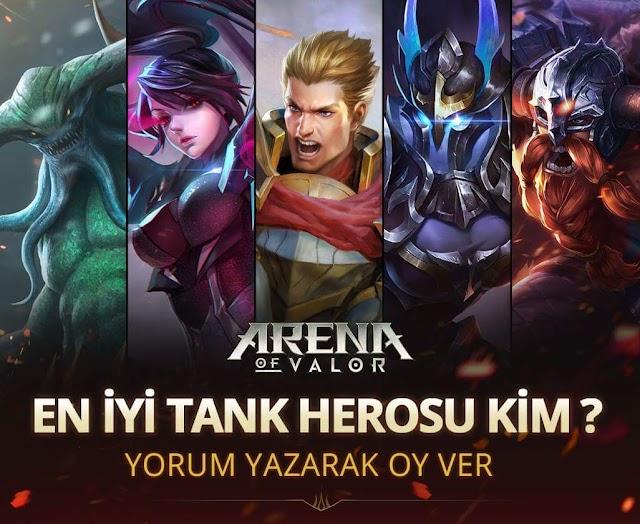 Arena of Valor Soruyor, En İyi Tank Kim?