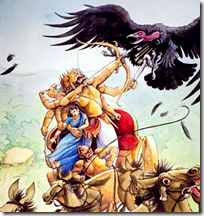 [Jatayu against Ravana]