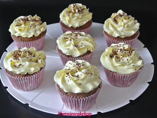 chocolade cupcake met bananen toef