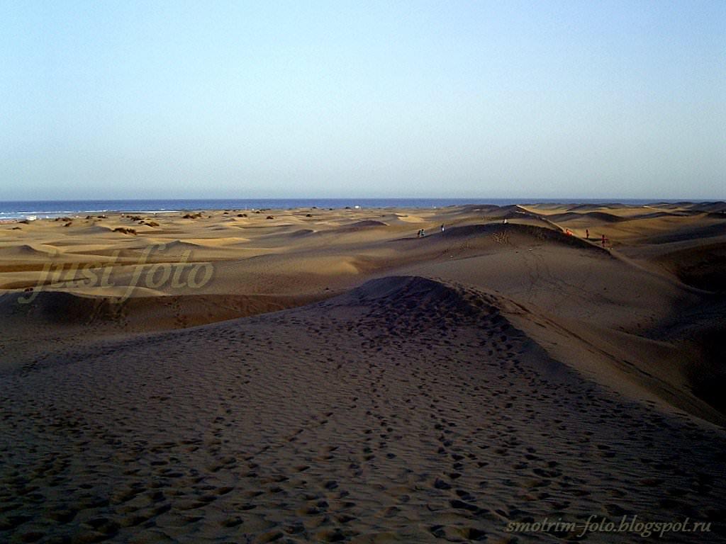 Дюны на острове Гран Канария фото