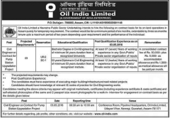 Oil India Limited Civil Engineers 2016