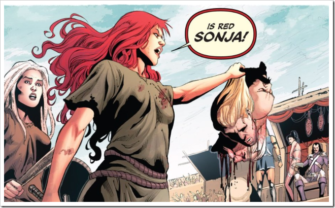 "[RS] ""Now, say my name."" [DA] ""Red Sonja"" [RS] ""You're goddamn right."""