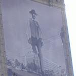 Giant cowboy walks through Warsaw...?