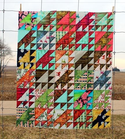 Hatbox Daze Quilt Top by Kim Lapacek