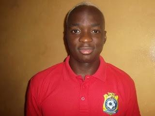 Neeskens Kebano, joueur de l'équipe nationale de football de la RDC. Kinshasa, le 17 nocembre 2014. Ph Radio Okapi/Nana Mbala