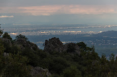 View of Antalya from the mountains.