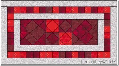 heart runner 15x27 4 colors plus white