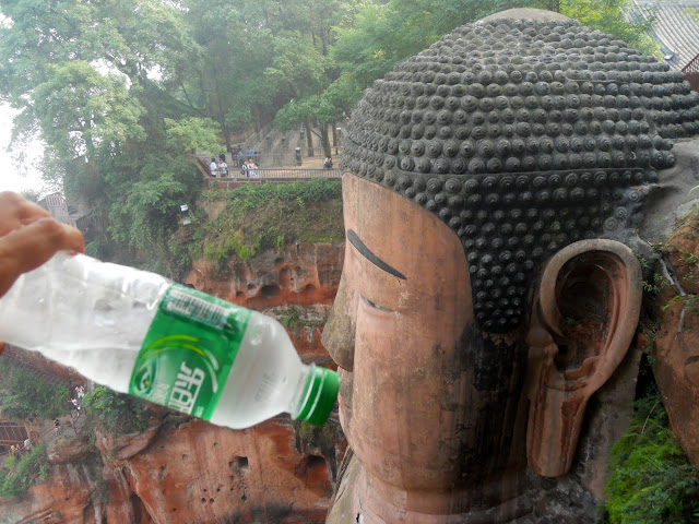 The buddha is thristy and needs a drink