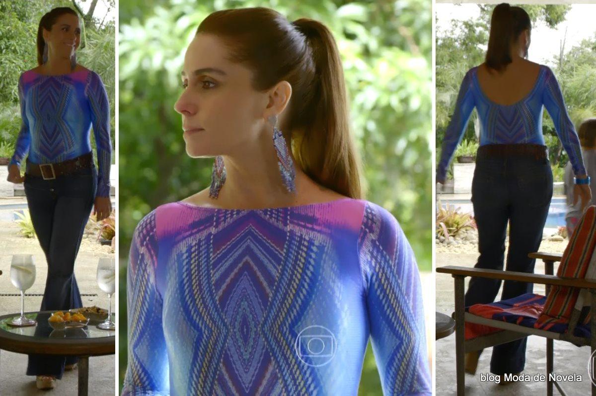 moda da novela Em Família - look da Clara dia 23 de junho
