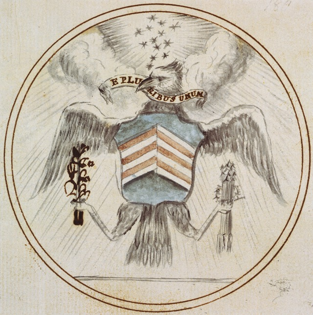 US Great Seal Charles Thomson Preliminary Design